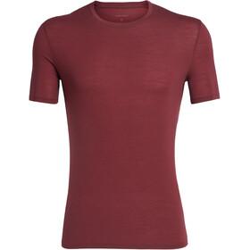 Icebreaker Anatomica T-shirt Col ras-du-cou Homme, cabernet